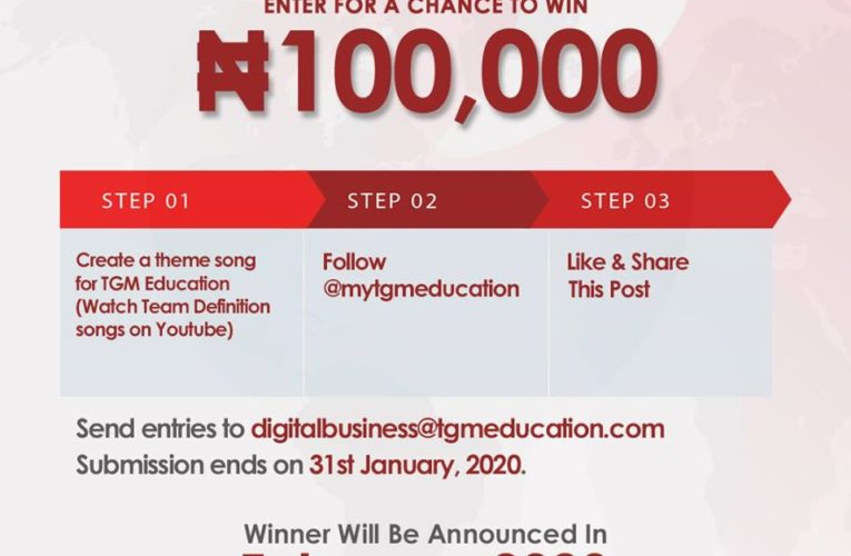 TGM Education N100K Giveaway Alert !!!