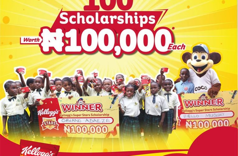 "100 Scholarships Worth N100,000 to be awarded in Kellogg's Nigeria ""Super Star Season""."